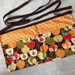 Handmade Apron with divided pockets.